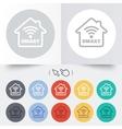 Smart home sign icon smart house button vector