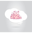A gift in a white cloud vector
