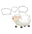 Cartoon thinking sheep vector