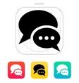 Dialogue bubble icon vector