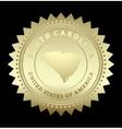 Gold star label south carolina vector
