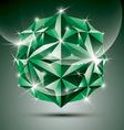 Party 3d green shiny disco ball fractal dazzling vector