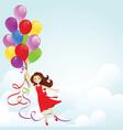 Happy birthday girl vector
