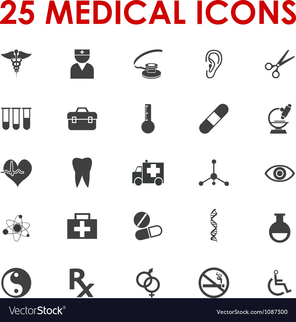 Healthy icons vector | Price: 1 Credit (USD $1)