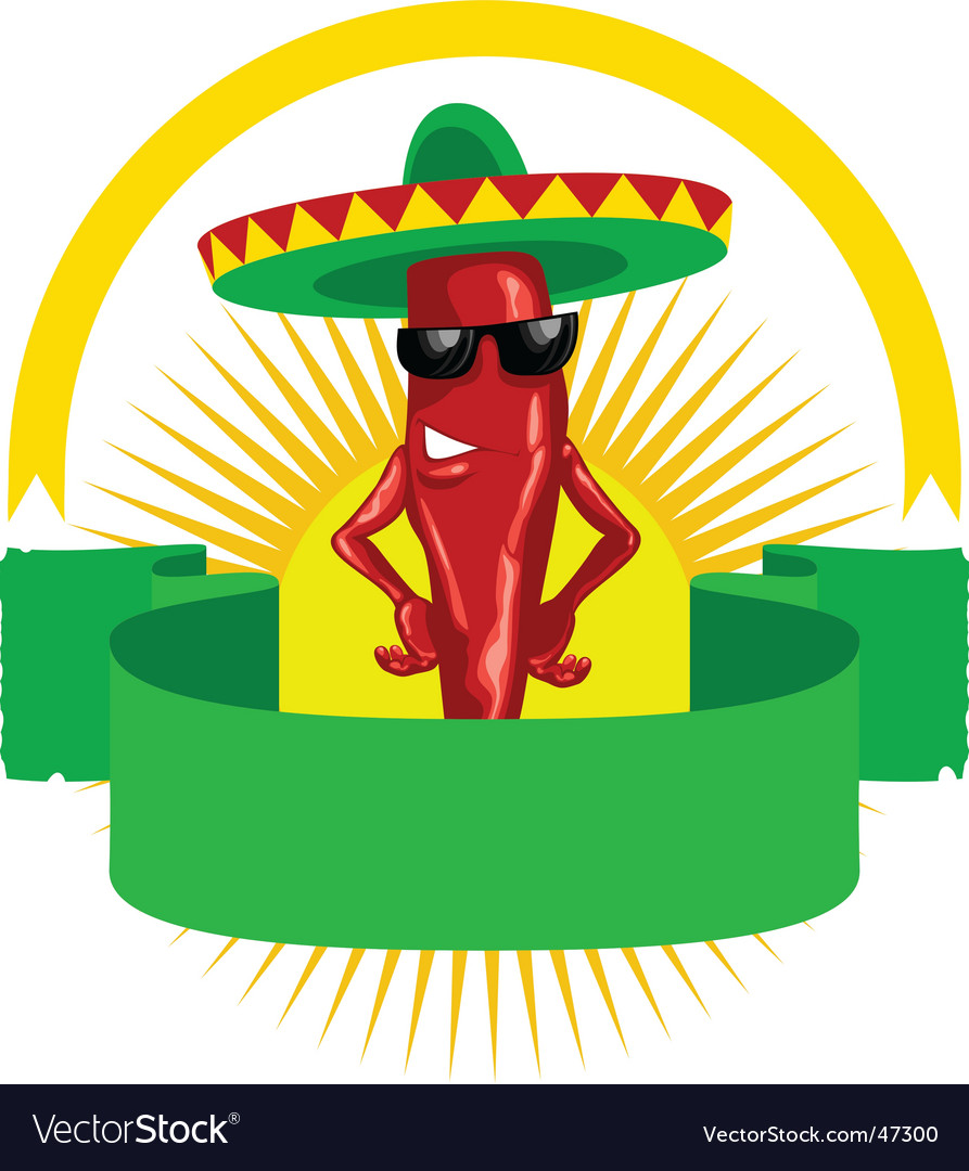 Hot chili label vector | Price: 1 Credit (USD $1)