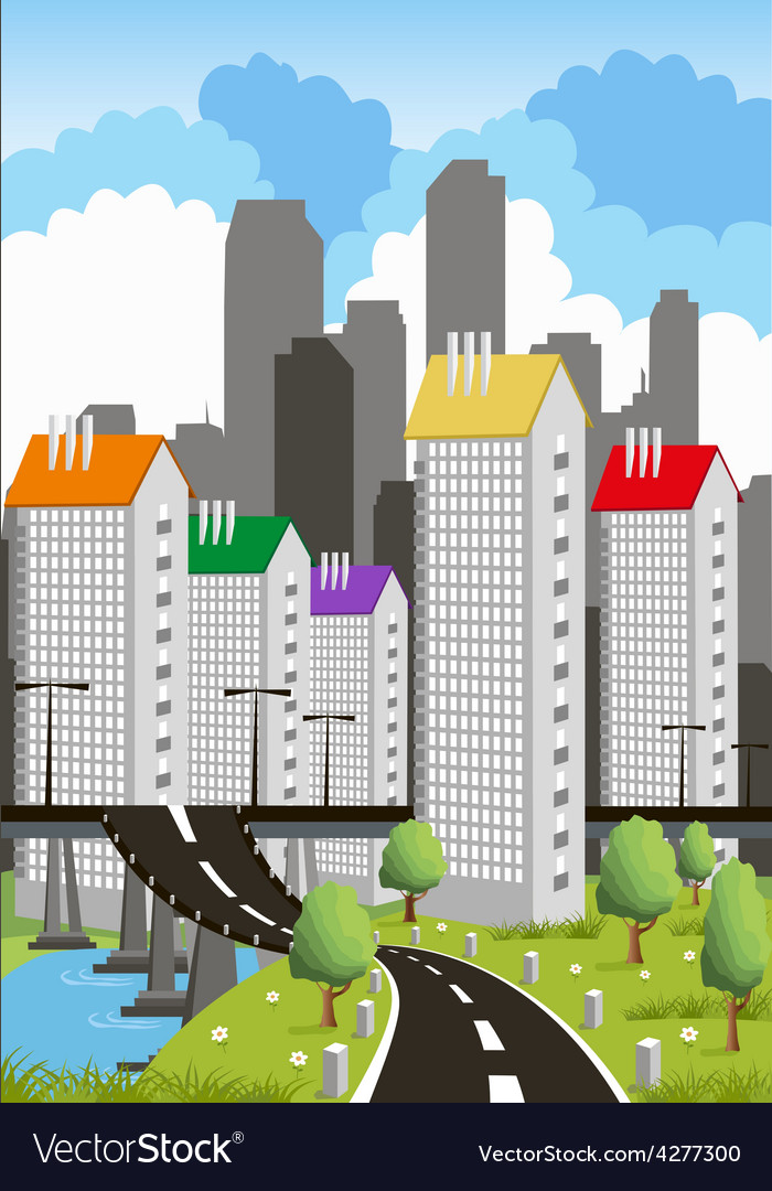 Modern metropolis vector | Price: 3 Credit (USD $3)