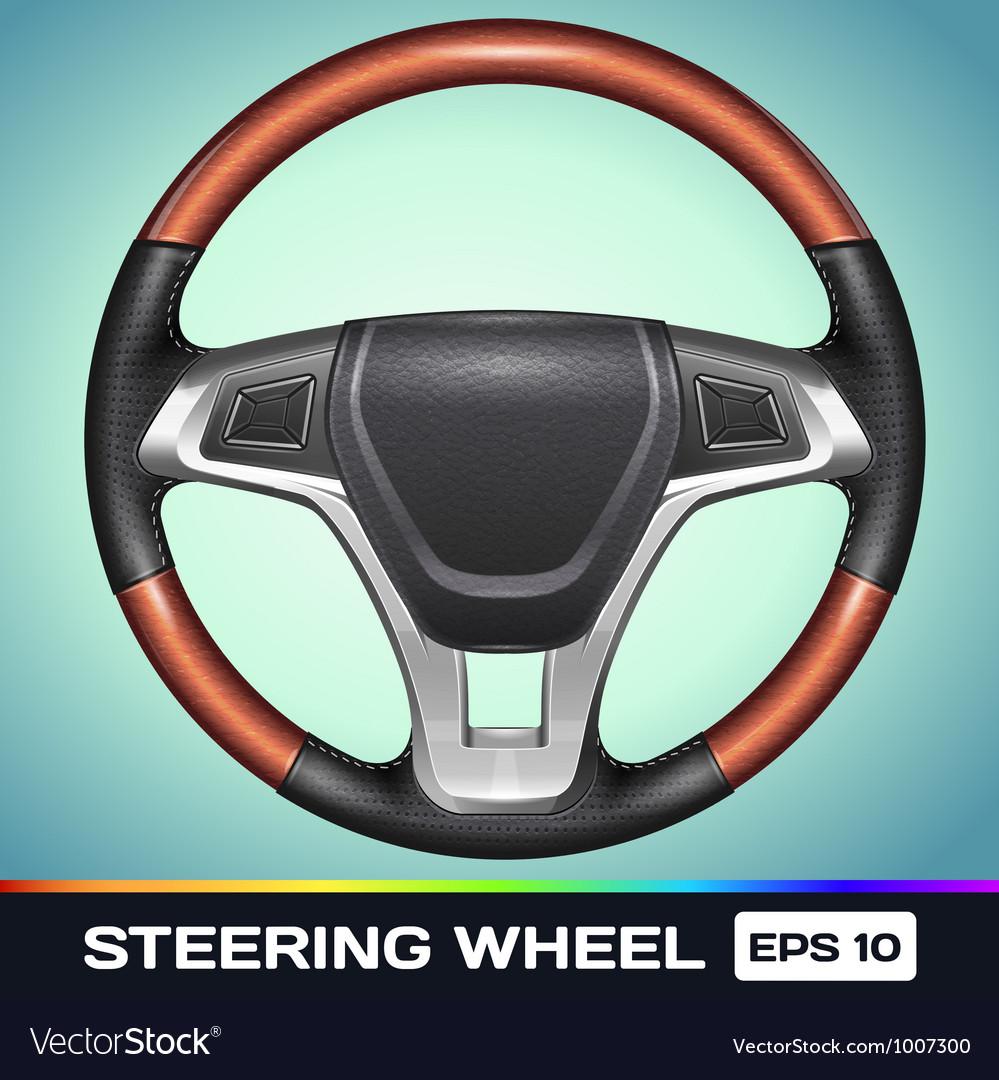 Realistic steering wheel vector | Price: 3 Credit (USD $3)