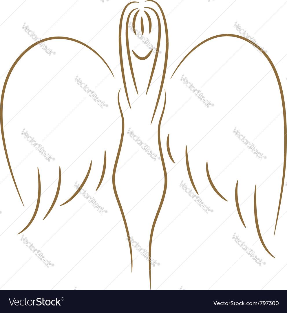 Sketch of angel vector | Price: 1 Credit (USD $1)