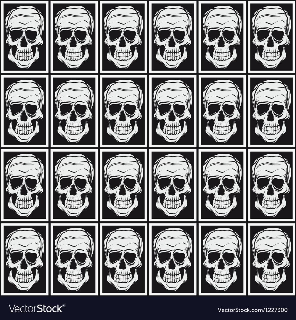Skull pattern background vector   Price: 1 Credit (USD $1)