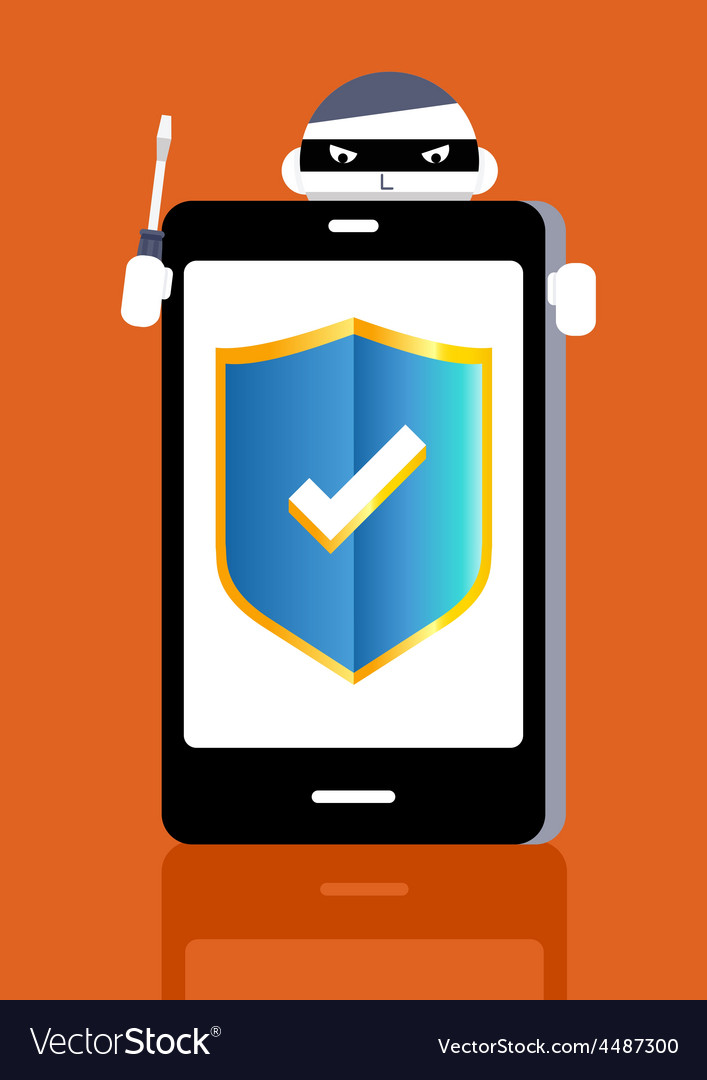 Smart phone protect vector | Price: 1 Credit (USD $1)