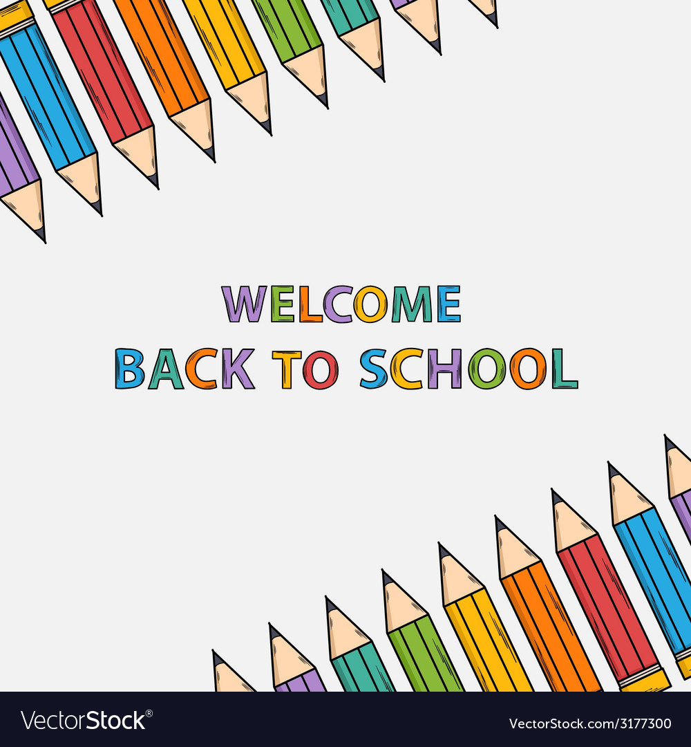 Welcome back to school bacground with text vector | Price: 1 Credit (USD $1)