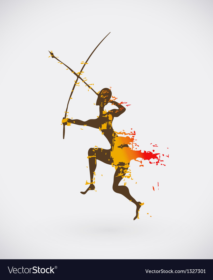 African hunter tribal vector   Price: 1 Credit (USD $1)