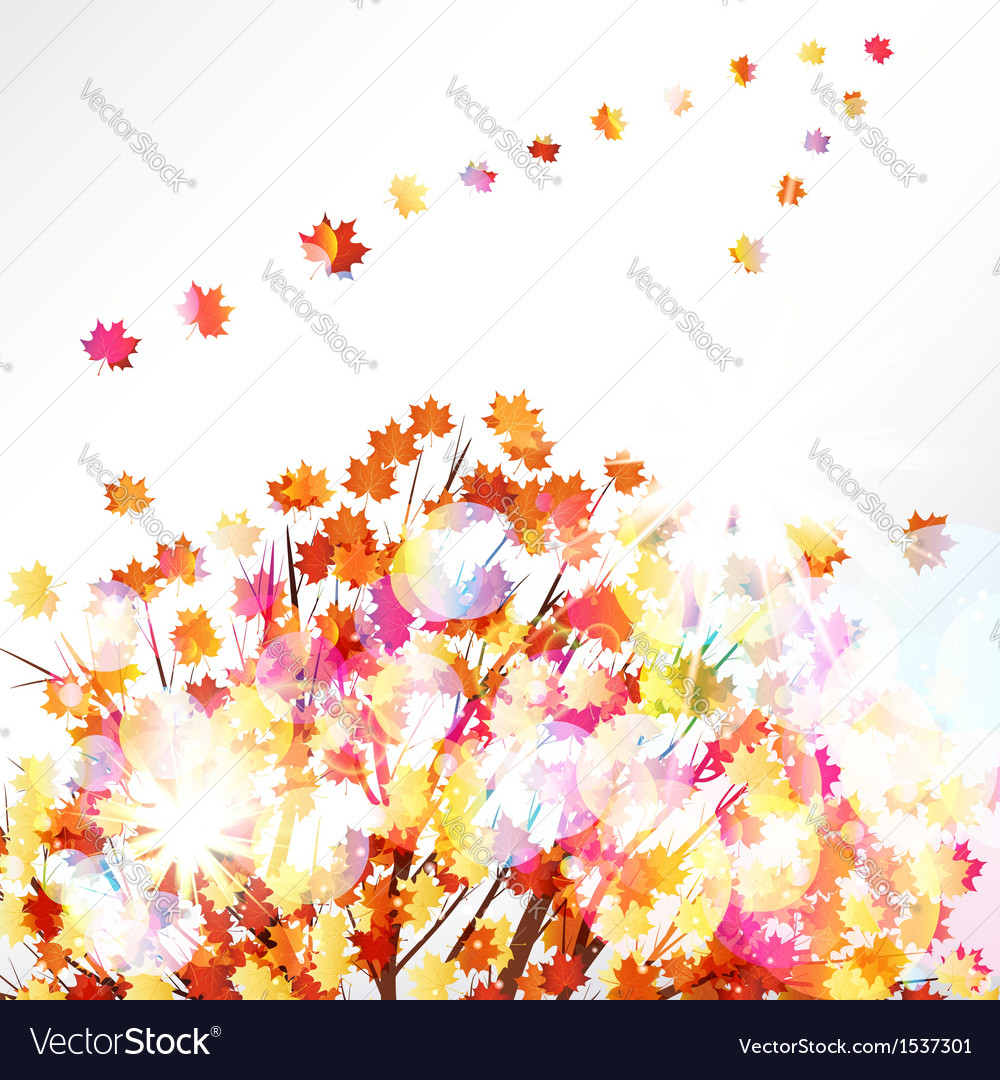 Autumn leaves design background vector | Price: 3 Credit (USD $3)