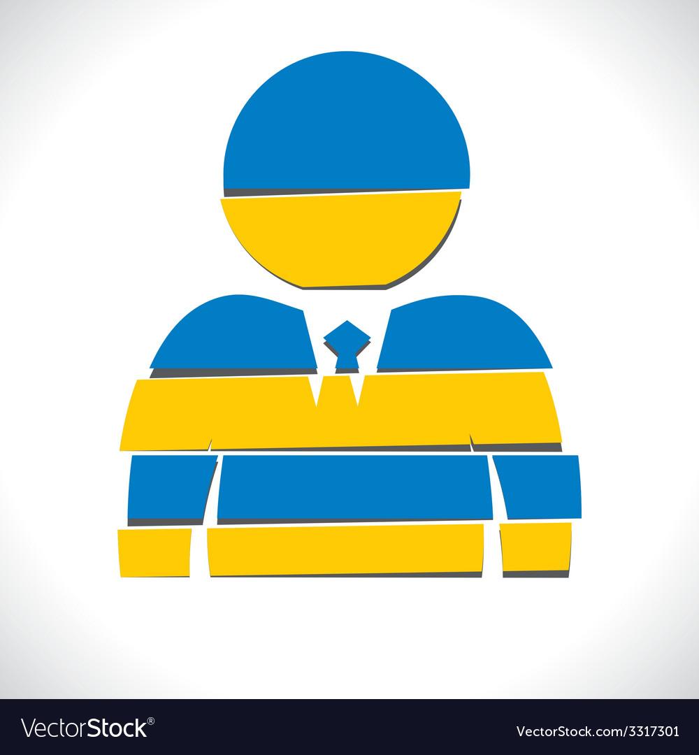 Blue businessmen design with strip vector   Price: 1 Credit (USD $1)