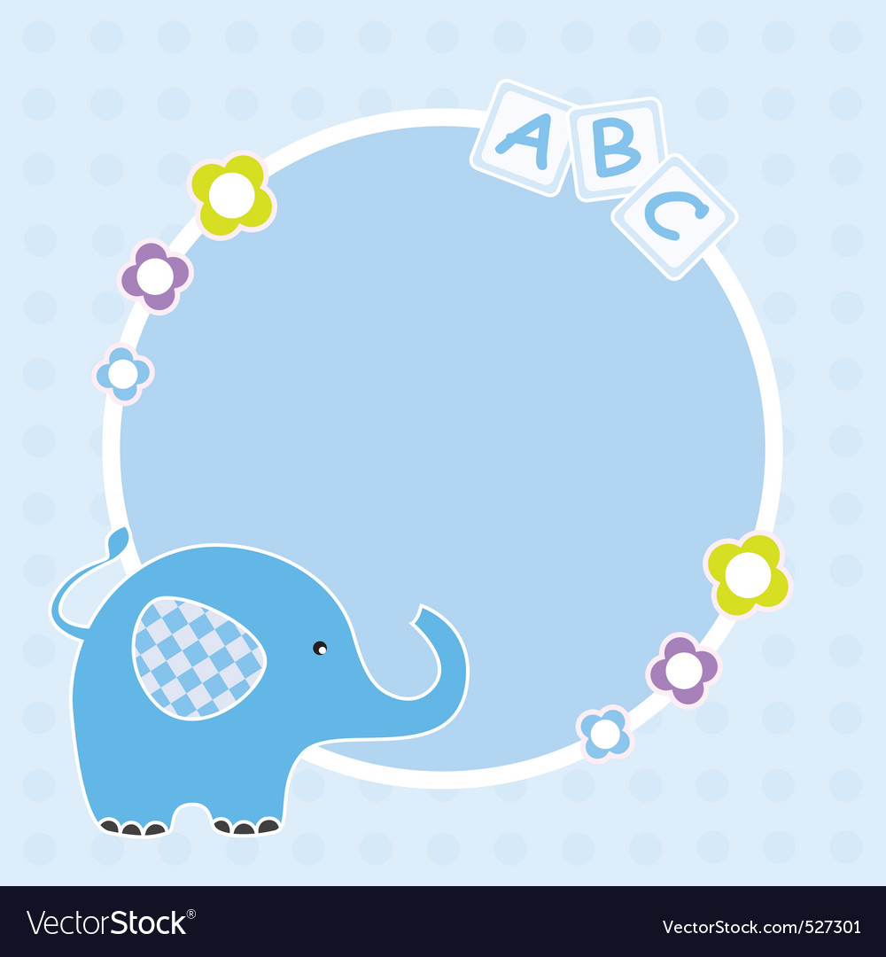 Blue elephant framework vector | Price: 1 Credit (USD $1)