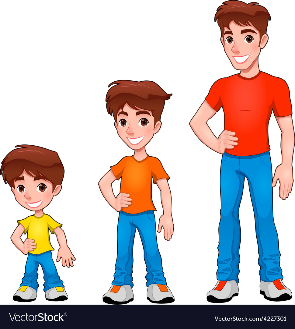 Child boy and man description of age vector | Price: 3 Credit (USD $3)