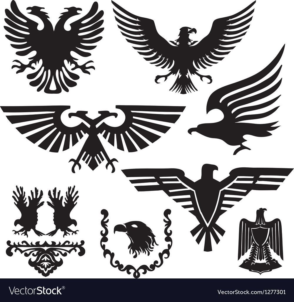 Coat of arms with an eagle vector | Price: 1 Credit (USD $1)