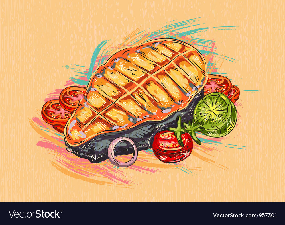Cooked fish vector | Price: 1 Credit (USD $1)
