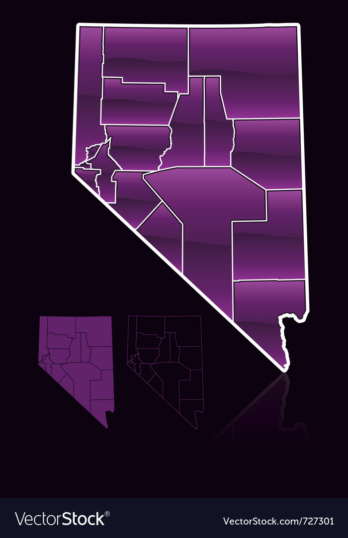 Counties of nevada vector | Price: 1 Credit (USD $1)