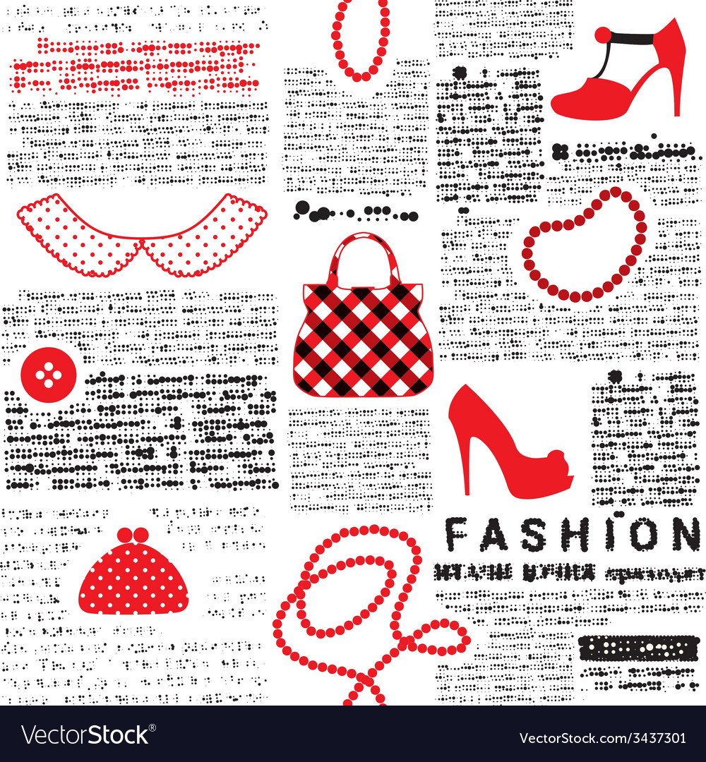 Fashionable background with imitation of newspaper vector | Price: 1 Credit (USD $1)