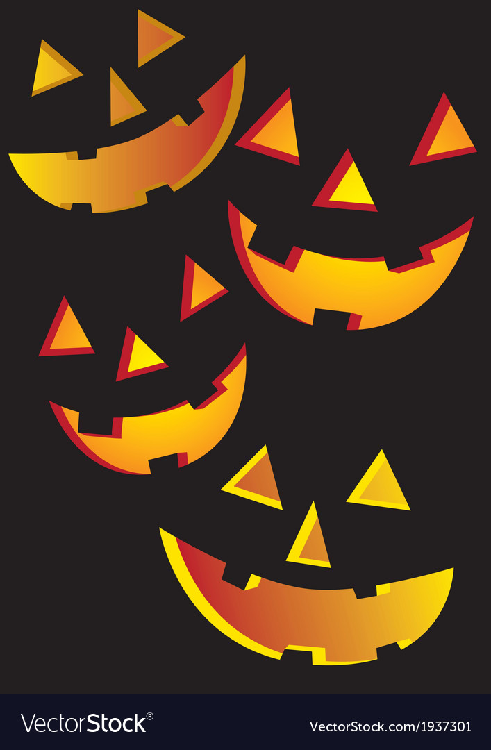 Halloween faces vector | Price: 1 Credit (USD $1)
