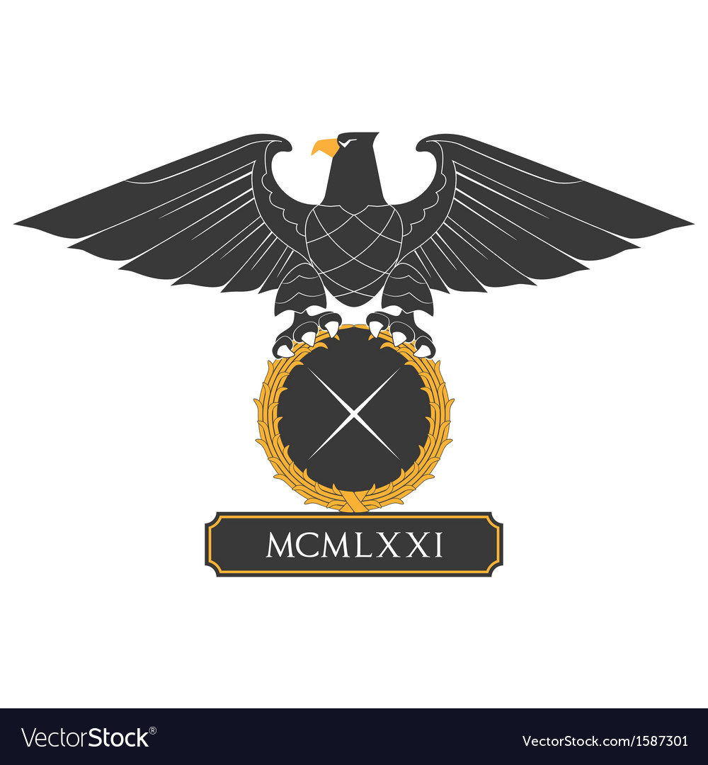 Heraldic eagle 22 vector | Price: 1 Credit (USD $1)