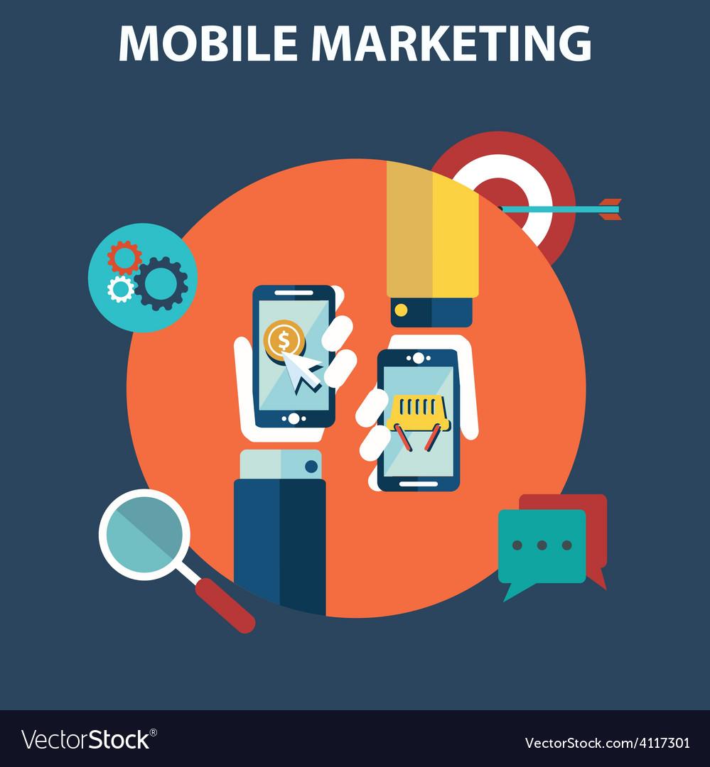 Mobile marketing vector | Price: 1 Credit (USD $1)