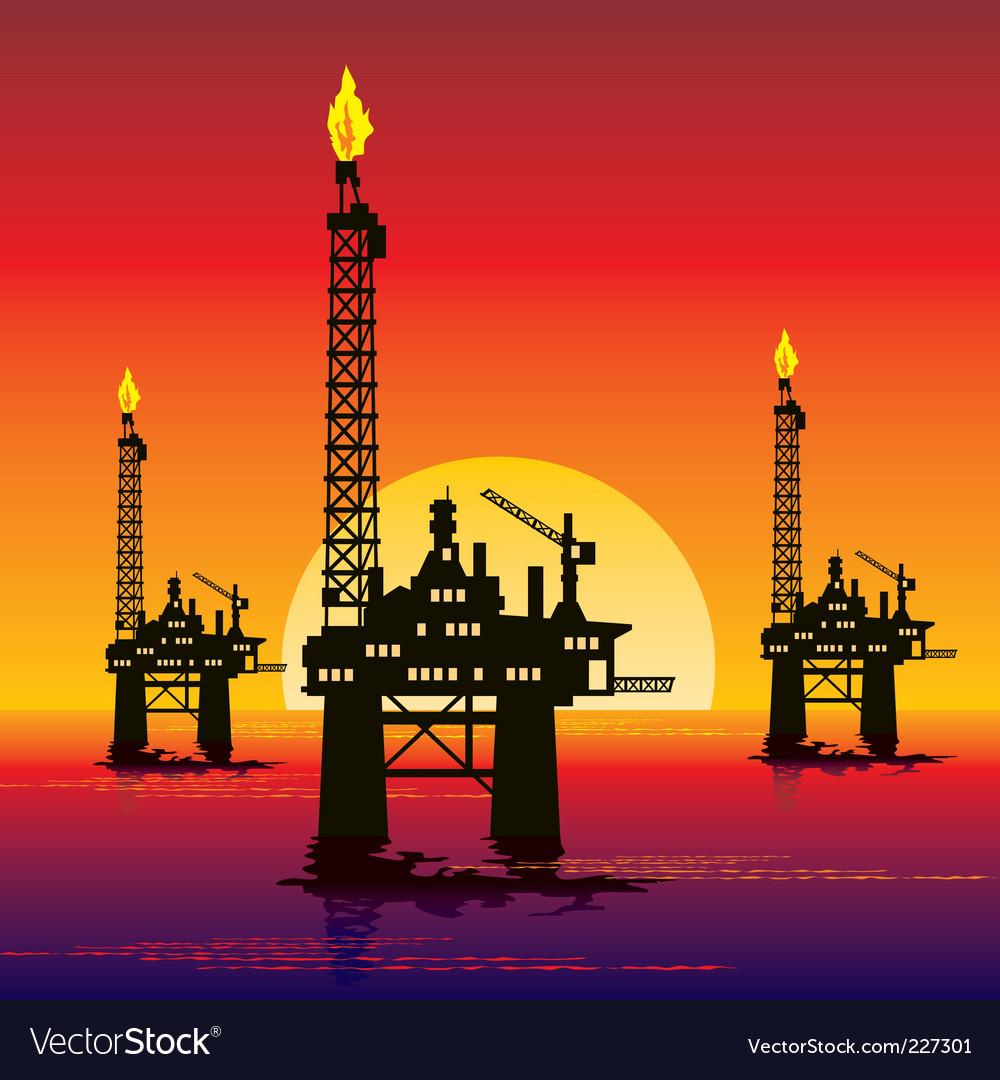 Oil platform vector | Price: 1 Credit (USD $1)