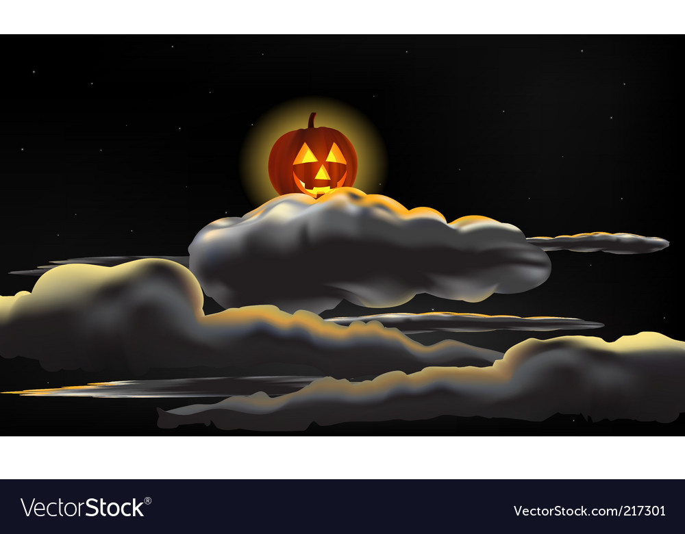Pumpkin moon vector | Price: 1 Credit (USD $1)