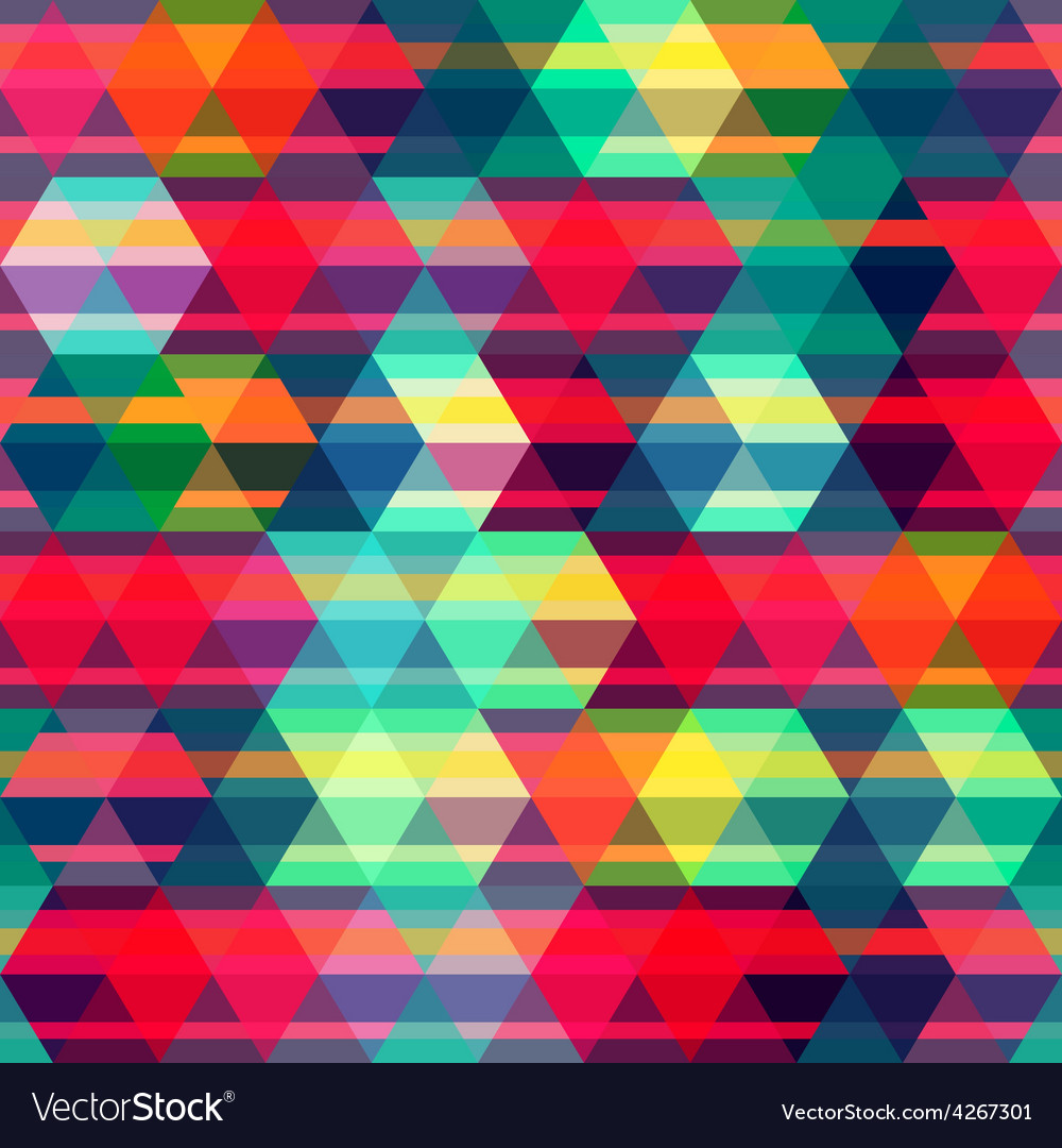 Red rhombus seamless pattern vector | Price: 1 Credit (USD $1)