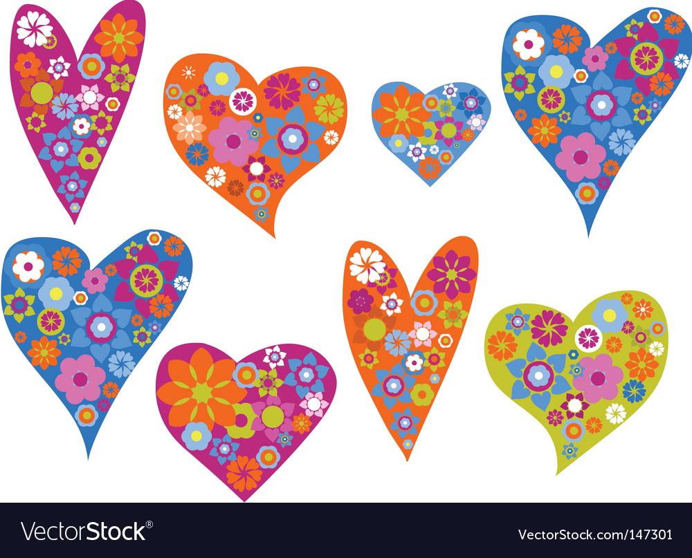 Retro hearts background vector   Price: 1 Credit (USD $1)