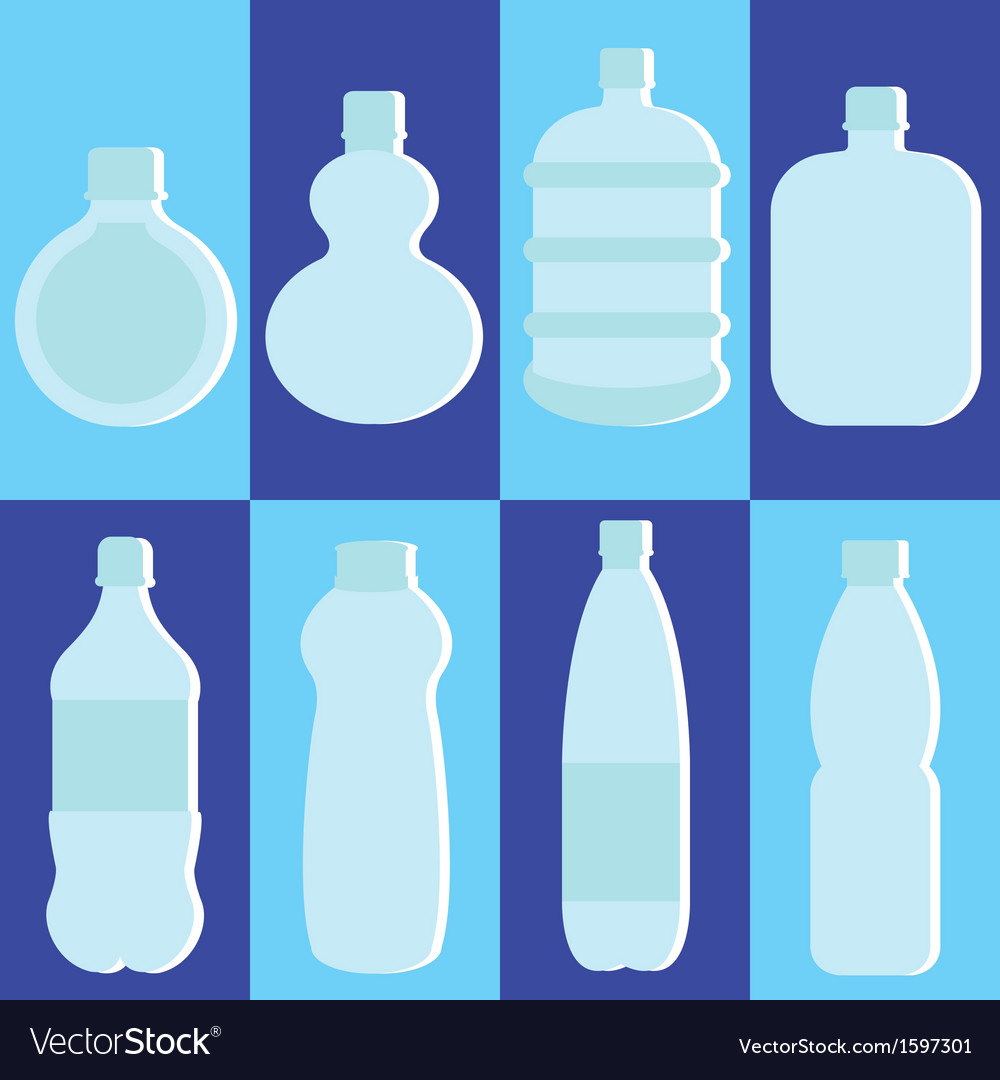 Set of water bottle vector | Price: 1 Credit (USD $1)