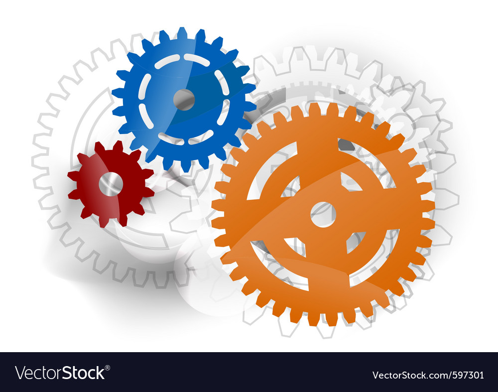 Three cogwheels vector | Price: 1 Credit (USD $1)