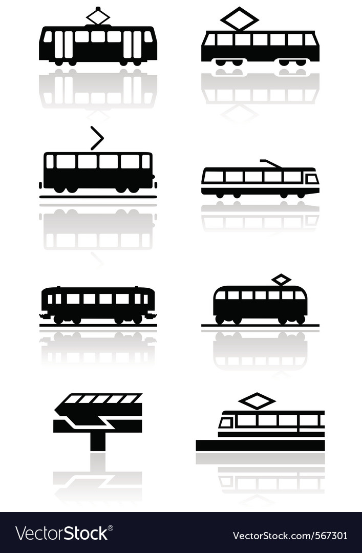 Train symbol set vector | Price: 1 Credit (USD $1)