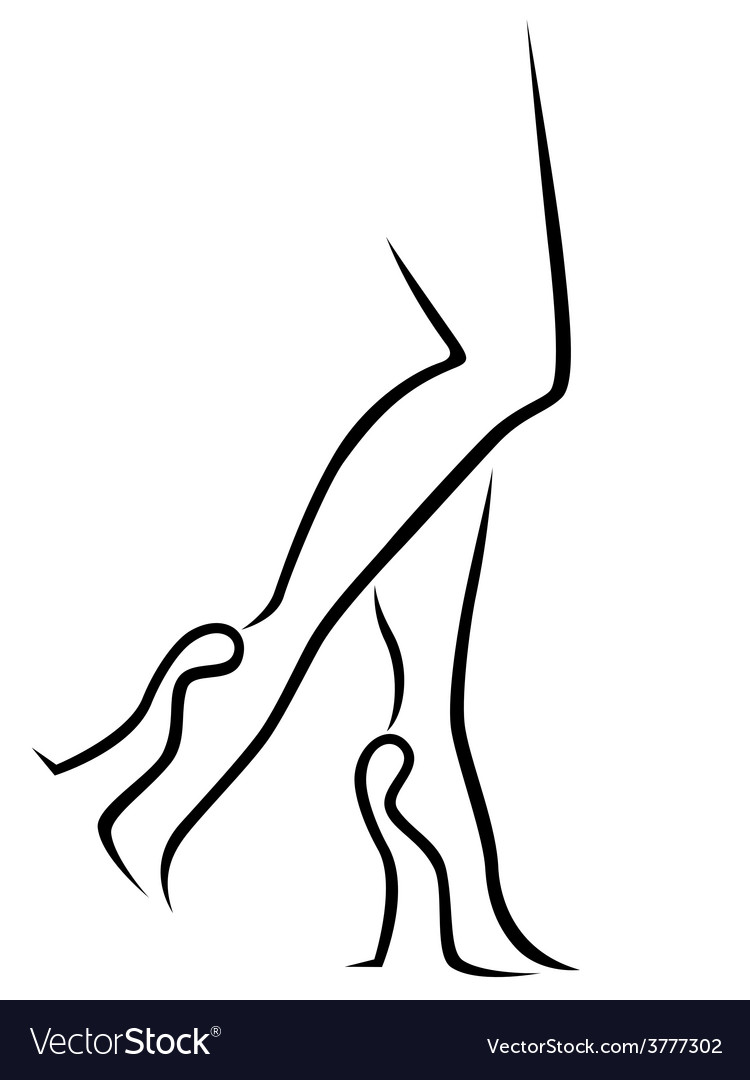 Abstract female legs in stylish footwear vector | Price: 1 Credit (USD $1)