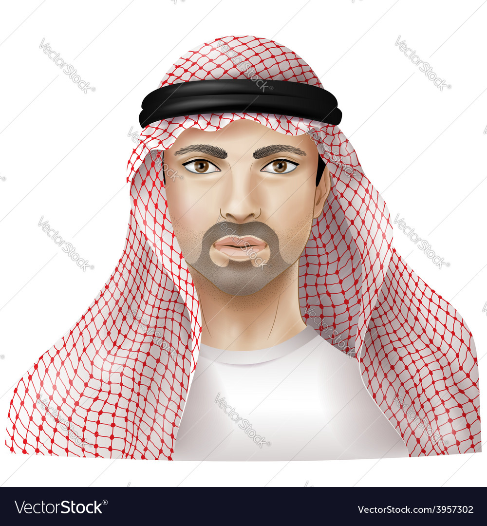 Arab man vector | Price: 3 Credit (USD $3)