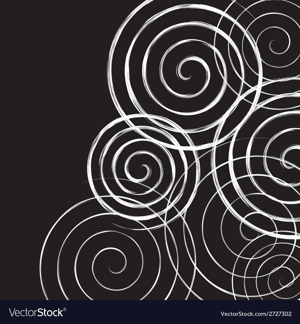 Black and white spirals background vector | Price: 1 Credit (USD $1)