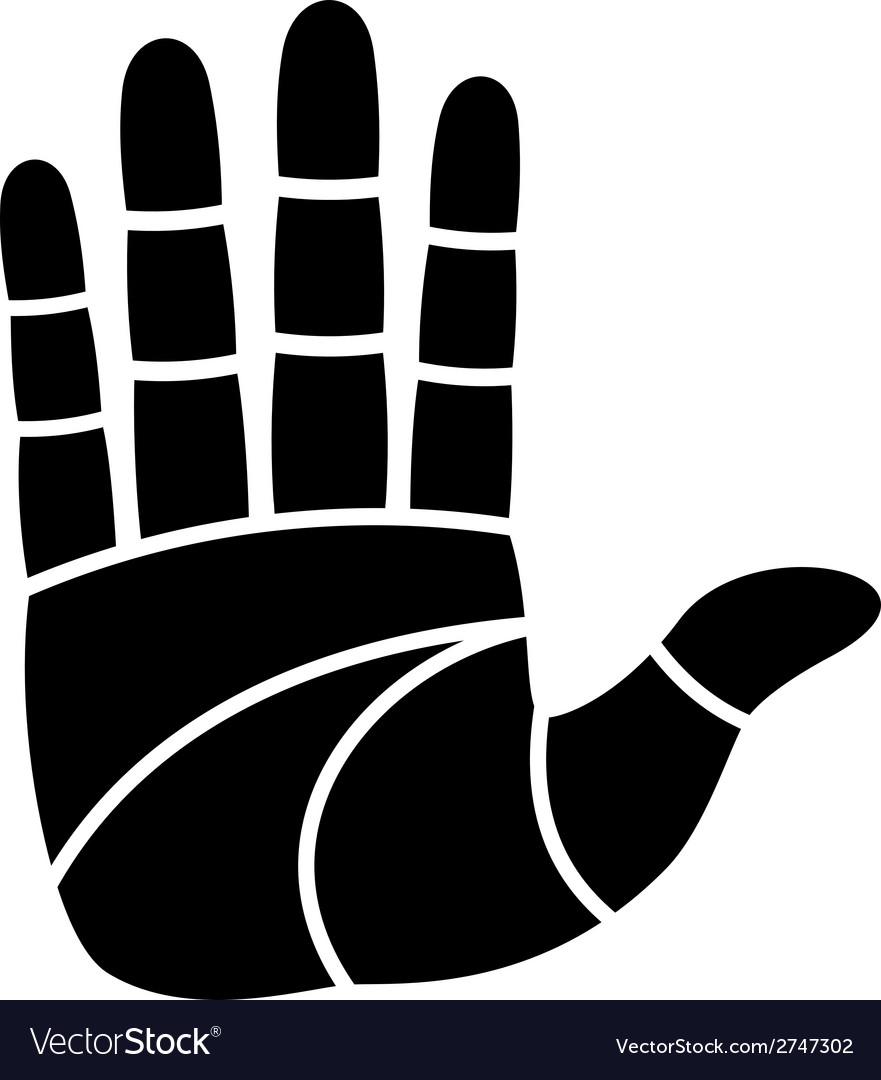 Clean hand imprint vector | Price: 1 Credit (USD $1)