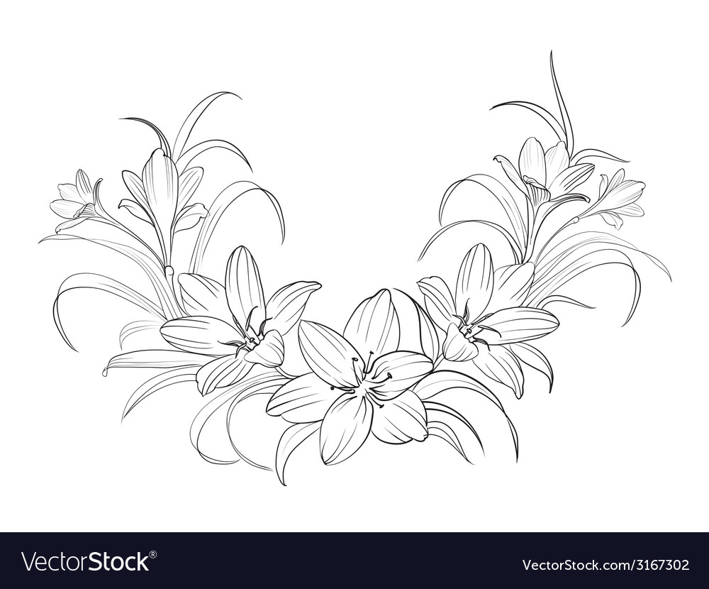 Crocus flowers vector | Price: 1 Credit (USD $1)