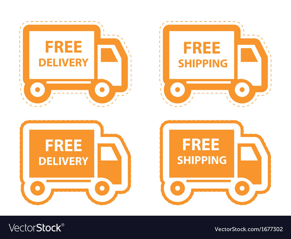 Free shipping delivery icon set vector | Price: 1 Credit (USD $1)