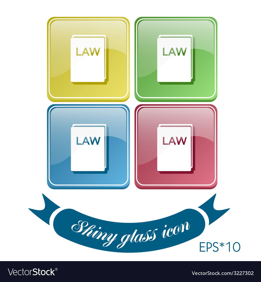 Icon book of the law set of laws symbol of justice vector | Price: 1 Credit (USD $1)
