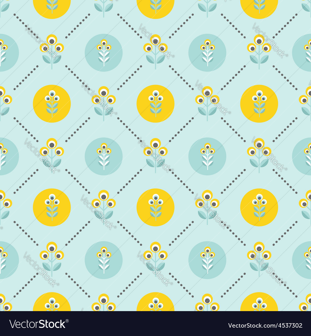 Seamless floral patern with abstract flowers vector   Price: 1 Credit (USD $1)