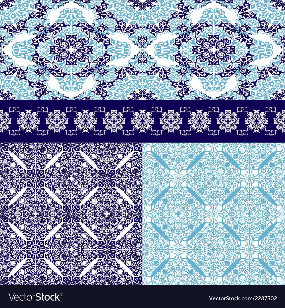 Set of seamless ottoman motifs bfckgrounds vector | Price: 1 Credit (USD $1)
