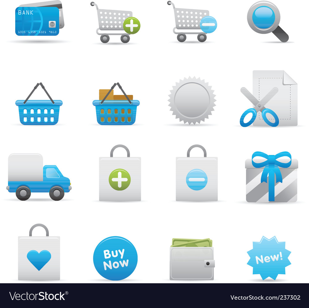 Shopping icons  indigo vector | Price: 1 Credit (USD $1)