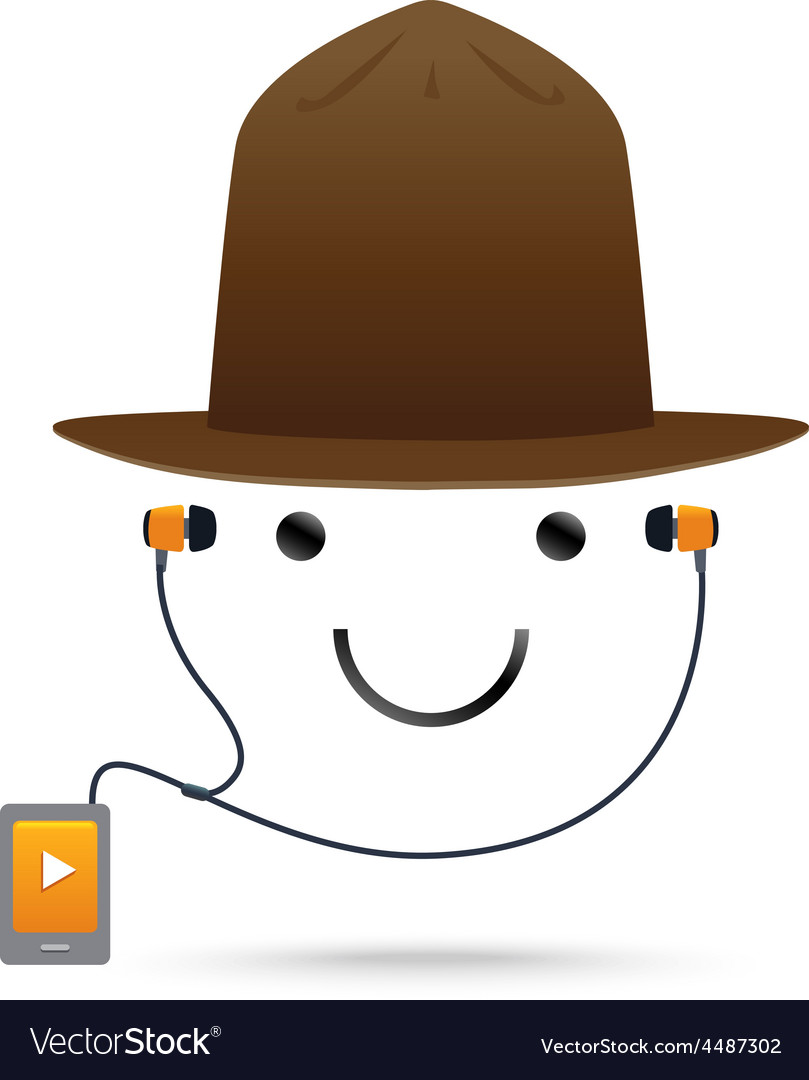 Smile music hat vector | Price: 1 Credit (USD $1)