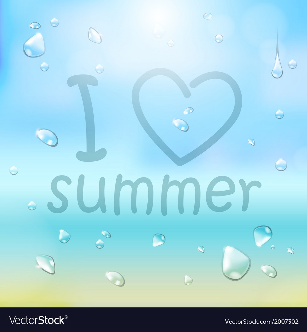 Summer typography background vector | Price: 1 Credit (USD $1)