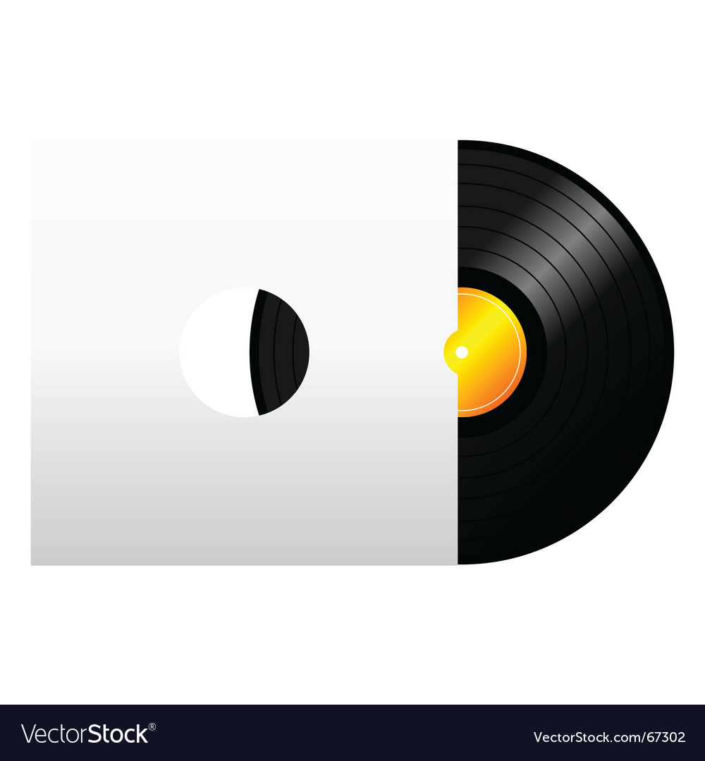 Vinyl record with cover vector | Price: 1 Credit (USD $1)