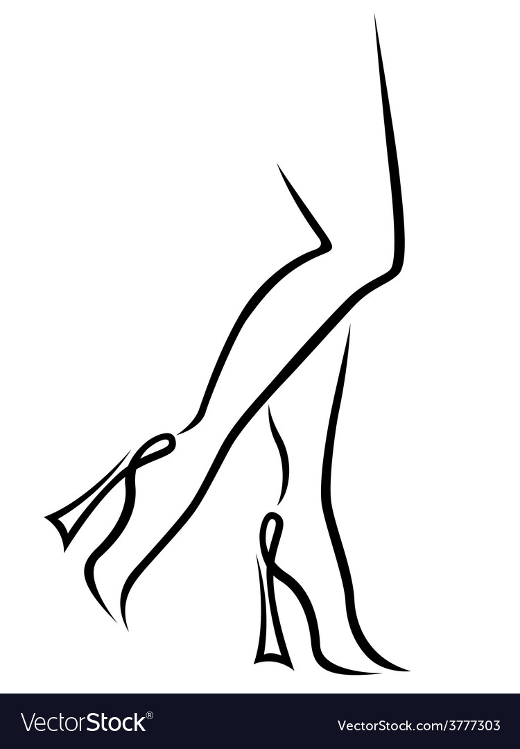 Abstract fashionable women legs vector
