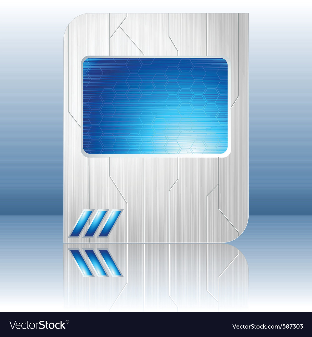 Blue and brushed steel futuristic sign vector   Price: 1 Credit (USD $1)