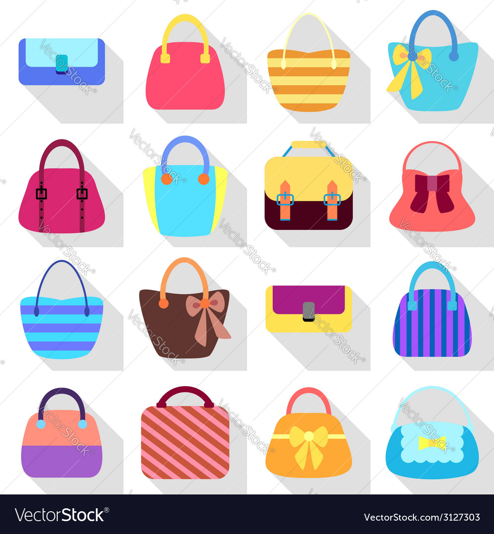 Collection of retro woman bags vector | Price: 1 Credit (USD $1)